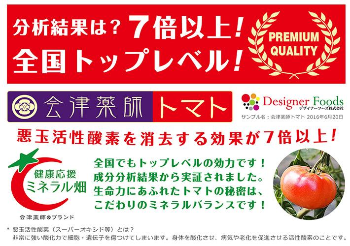 会津薬師トマト 2016成分分析結果